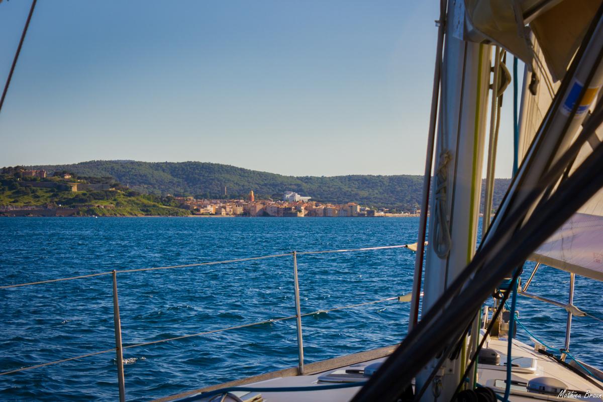 St Tropez vu depuis notre bateau