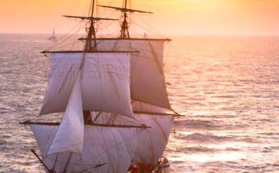 L'Hermione sera à Dieppe les 11 et 12 mai.